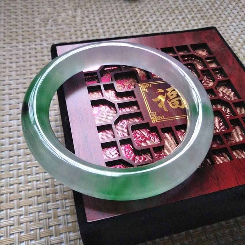 100%Natural Burmese stone violet, green, purple bracelets /Appraisal certificate gift box1 цена и фото