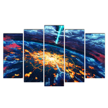 HD Prints Pictures Framework Living Room Home Wall Art Decor Poster 5 Pieces Abstract Seascape Canvas Paintings Cairnsi
