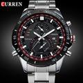 2016 CURREN 8149 Luxury brand sports Watch men Quartz Watches Auto Date Dress wristwatch military watches man full steel watch
