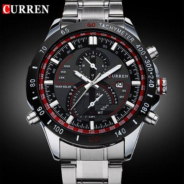 ca48f73bf5a2 2018 Curren 8149 marca deportiva de lujo reloj de los hombres Relojes de  cuarzo reloj de