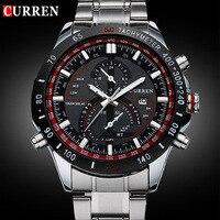 2015 CURREN 8149 Luxury Brand Sports Watch Men Quartz Watches Auto Date Dress Wristwatch Military Watches