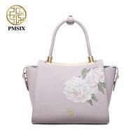 Pmsix ladies' Split leather handbag Pink Shoulder Bag Closure Types Zipper tote High quality Messenger Bag for women P120102
