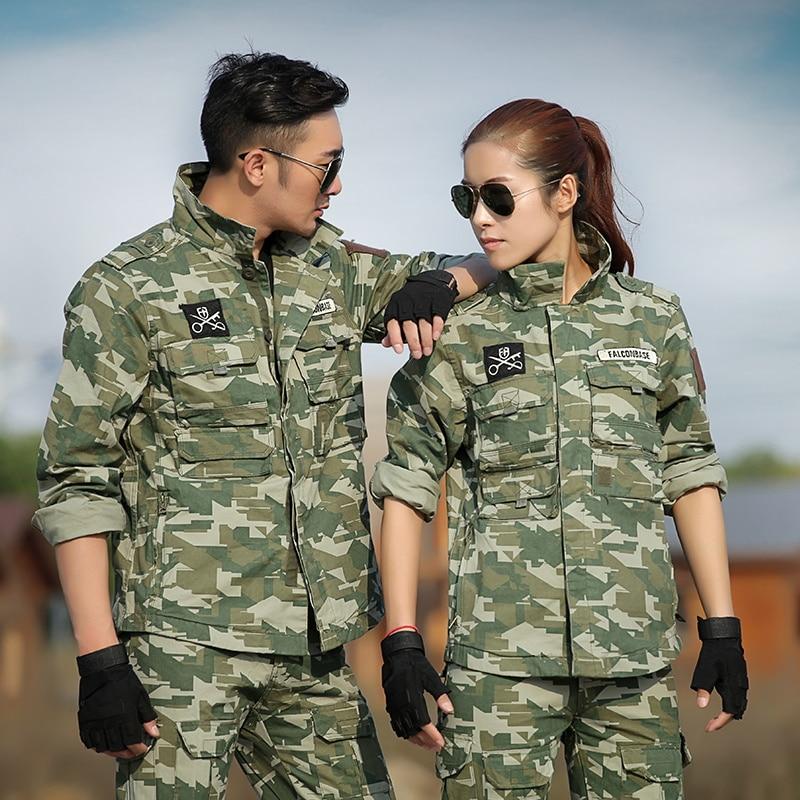 Hiver forêt Camouflage chasse vêtements hommes femmes armée Combat chemise Cargo pantalon chasse vêtements Multicam Camo Ghillie costume