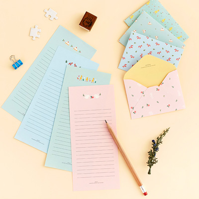 24 sets of ardium mini animal letter set cute small letter writing paper set for kids