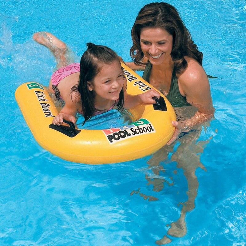 learning swimming pool fun sport kickboard waterboard swim board airmattress inflatable board for child with handle B41007