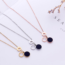 Vintage Round Shell Necklace Women Geometric Necklace Love Circle Necklaces & Pendants Choker Jewelry Stainless Steel Jewelry vintage hourglass necklaces men stainless steel unisex necklaces pendants for women necklace jewelry wholesale