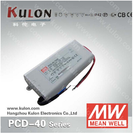40W 700mA LED power supply Meanwell PCD-40-700B constant current AC dimmable UL CB TUV CE EMC FCC 90w led driver dc40v 2 7a high power led driver for flood light street light ip65 constant current drive power supply