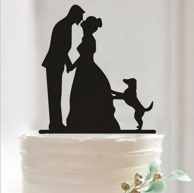 Pretty Bride And Groom Dog Cake Toppers Couple Wedding Romantic Topper For Decorative