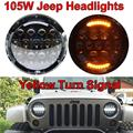 Super bright 7 inch High/Low Beam Headlight with Halo Angel eye Ring for Wrangler Hummer Camaro FJ Cruise Harley Davidson
