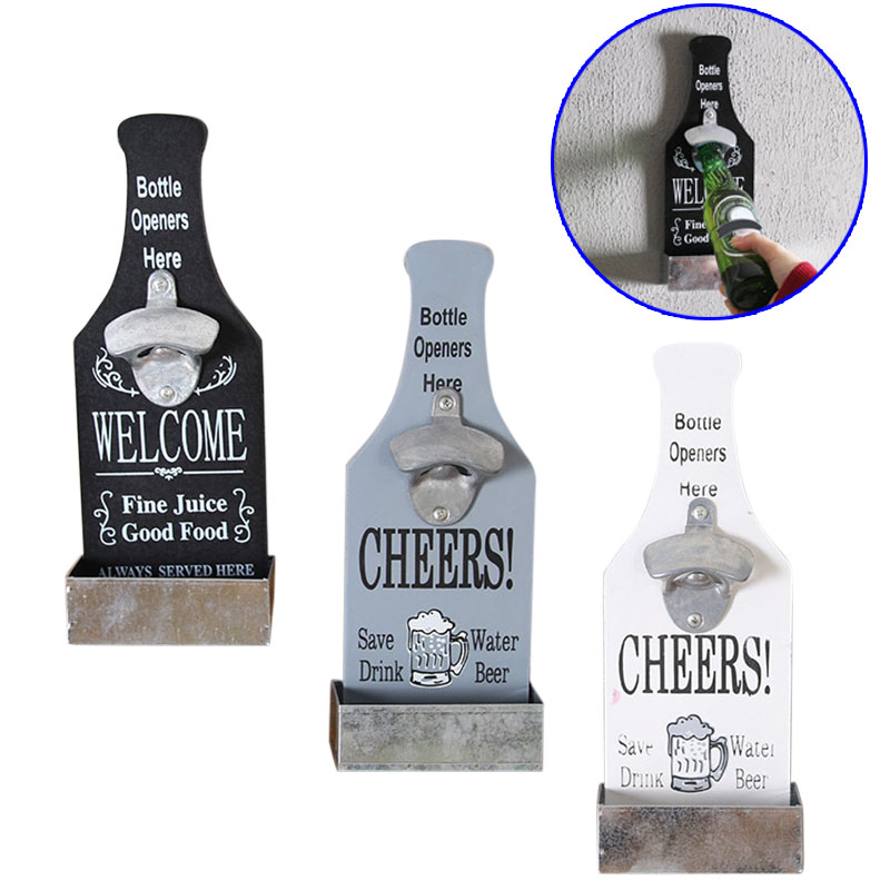 Promo Wall Mounted Vintage Beer Bottle Opener Home Bar Restaurant Enchanting Decorative Wall Mount Bottle Opener