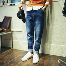 2016 Осенняя Мода Известная Марка Джинсы Для Мужчин Удобные Свободные Прямые Джинсы Большой Размер Pantalones Вакеро Hombre Balmai