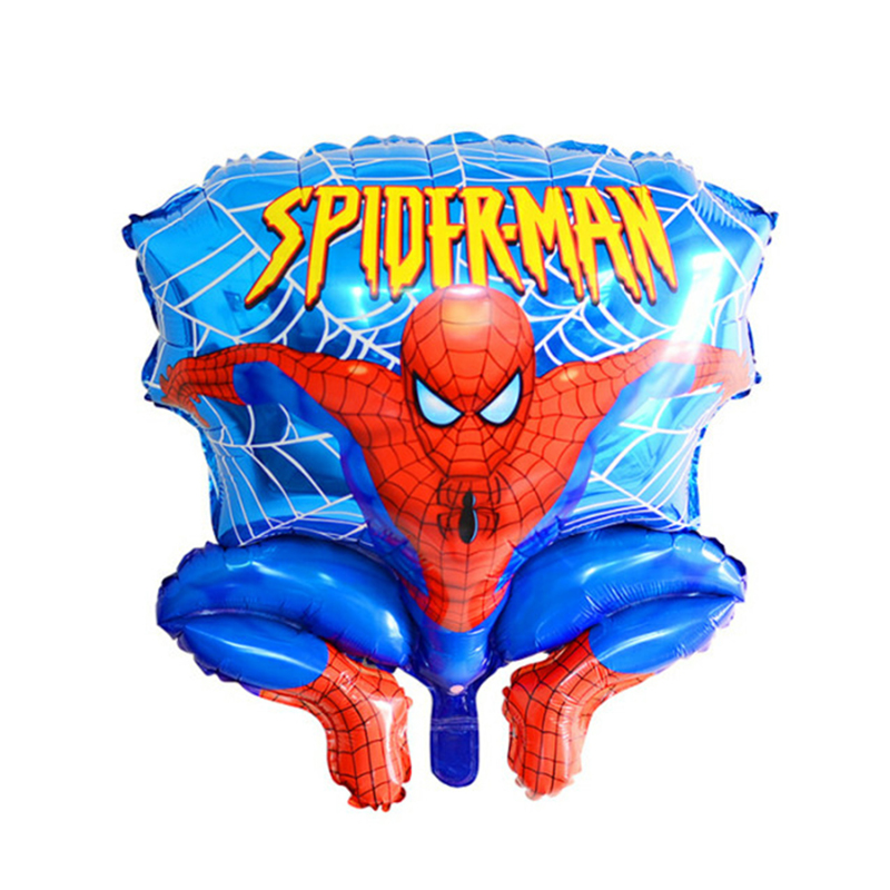 1 pcs / lot Spider man 65 cm aluminium balon film, Pesta anak-anak Foil balon, Mainan grosir, Kartun balon helium