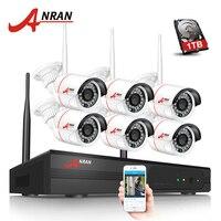 ANRAN Reciente Plug And Play Inalámbrica 8CH Sistema de Vigilancia NVR 1 TB HDD 720 P HD IR Al Aire Libre Sistema de Cámaras de Seguridad CCTV IP WIFI