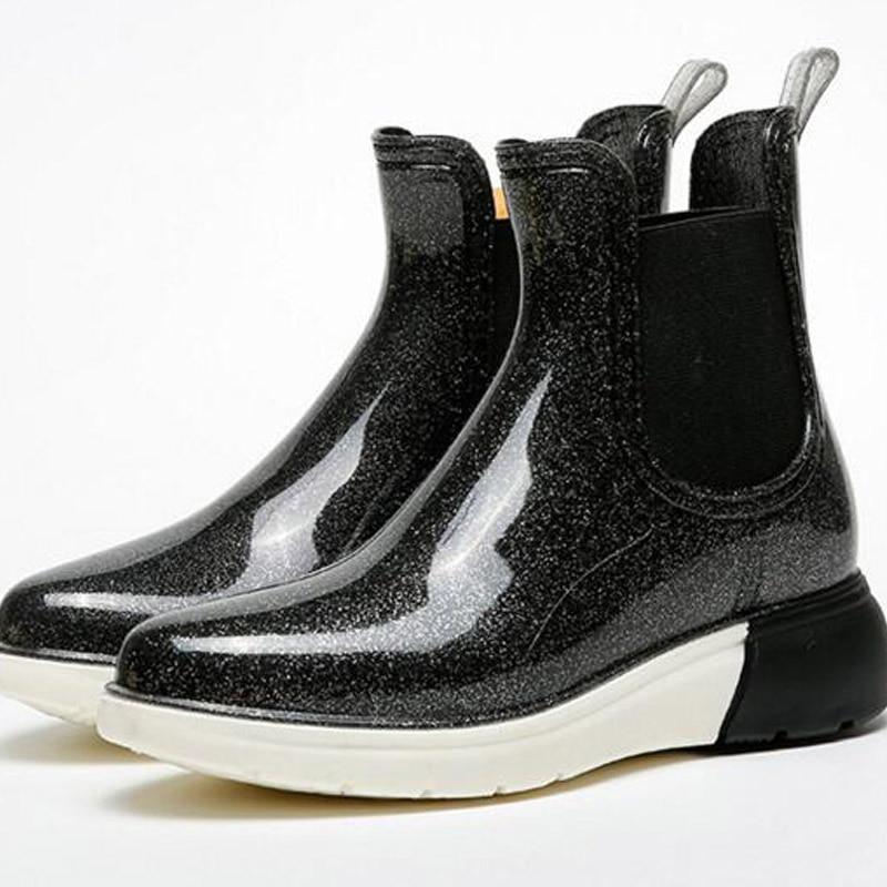 Womens High Heel Rain Boots