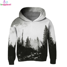 2019 Baby Girls Clothes Boys Hoodies Kids Sweatshirts Pullover Hooded Coat Outwear Jackets Children Dark Forest 3D Hoody Tops