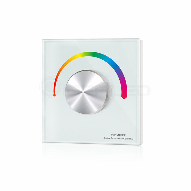 Knob touch panel RGB LED Strip Controller Wall mounted touch dimmer switch Remote Control CCT RGB Controller DC12-24V