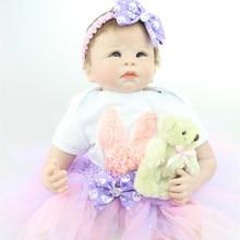 50-55cm Lifelike Silicone Vinyl Reborn Baby Doll Series Emulational Big Size Newborn Baby Reborn Dolls For Girls Gift Brinquedos