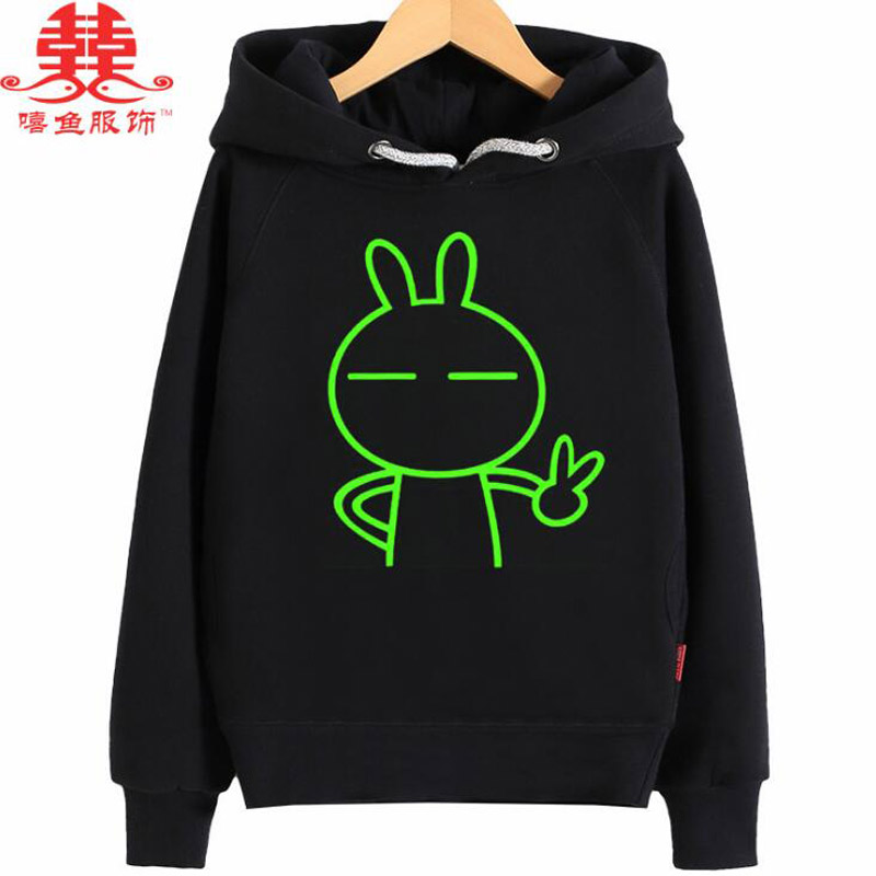 xiyu hoodies boys girls thick terrycloth noctilucence Luminous children's hoodies for girls night shining sports sweatshirt boys