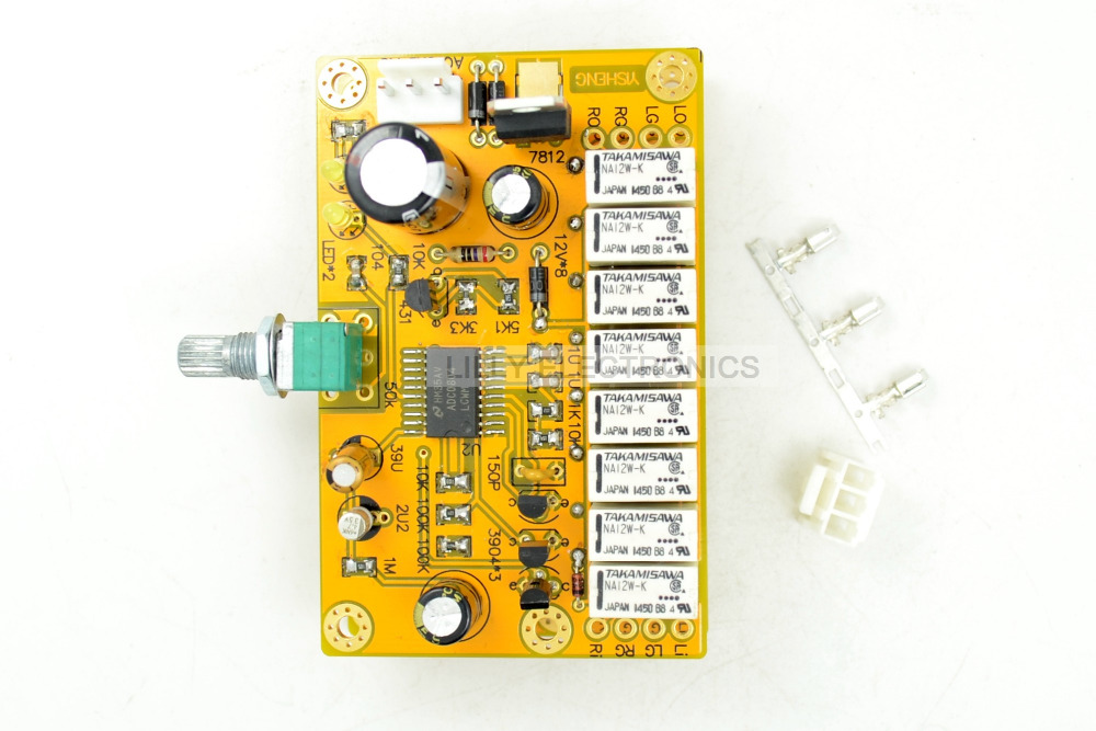 YS HIFI 4-Channel Relay Volume Control Board Potentiometer ALPS AC12V-18V batman 66 volume 4