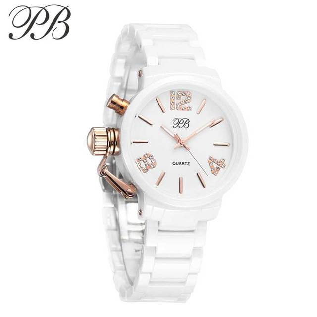 Princess Butterfly Fashion Watch Women Designer Watch Famous Brand Bracelet Ceramic Watch gold plated Gorgeous Wristwatch HL628