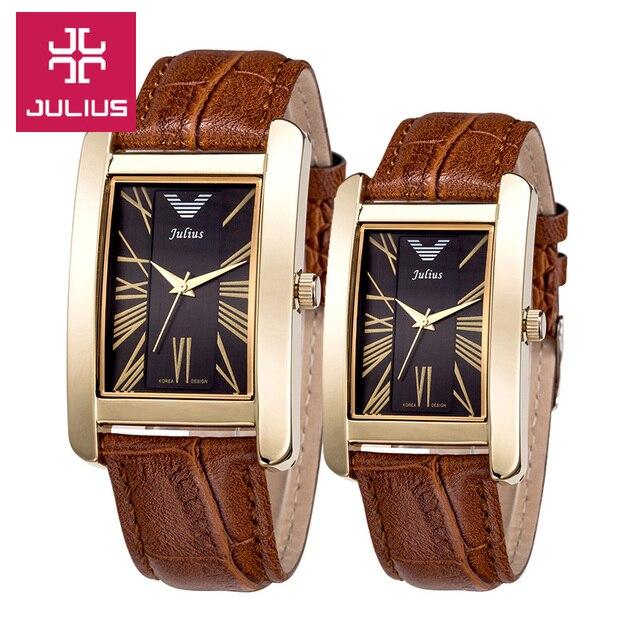 Top Julius Man Woman Wrist Watch 6 Colors Elegant Simple Fashion Hours Dress Bra