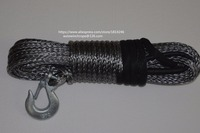 Grey10mm 30m Synthetic Rope Boat Winch Cable Kevlar Rope Spectra Rope Winch Rope With G70 Hook