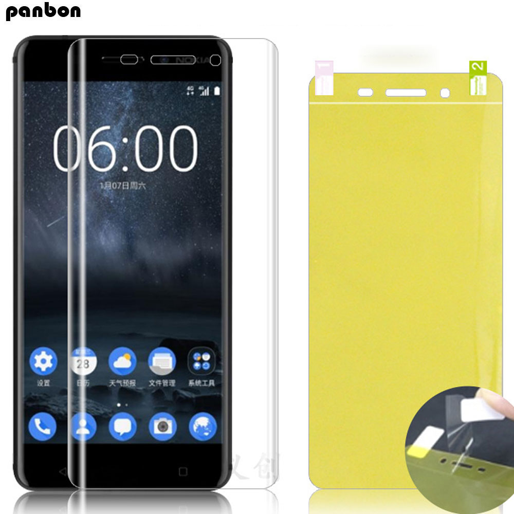 Soft Hydrogel Front Film for <font><b>Nokia</b></font> 9 8.1 7.1 <font><b>6.1</b></font> 5.1 3.1 2.1 7 Plus 8 Full glue coverage Screen Protector <font><b>TPU</b></font> nano film image
