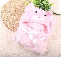 Recém-nascidos swaddle confortável super macio colcha de Criança Criança Capa com capuz fleece envoltório btrq0005