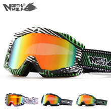 North Wolf 919 Brand Designer Sport Ski Goggles For men and women Anti-fog UV 400 Wind-resistant Wide View Snowboard Goggles