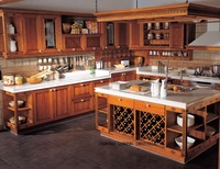 Classical cherry kitchen cabinets(LH SW044)
