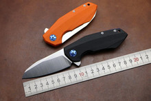 Folding knife Rexford D2 blade ZT0456 Flipper bearing knife Survival camping hunting tool Quality outdoor pocket EDC knife