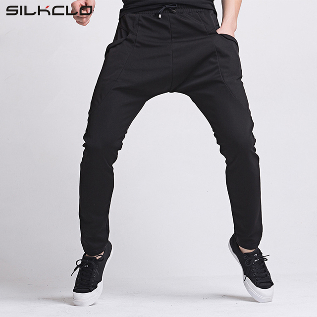 2016 Brand Big Pockets Men's Pants Casual Solid Pants  Sweatpants Jogger Asian Size  Clothing Black Size XXL