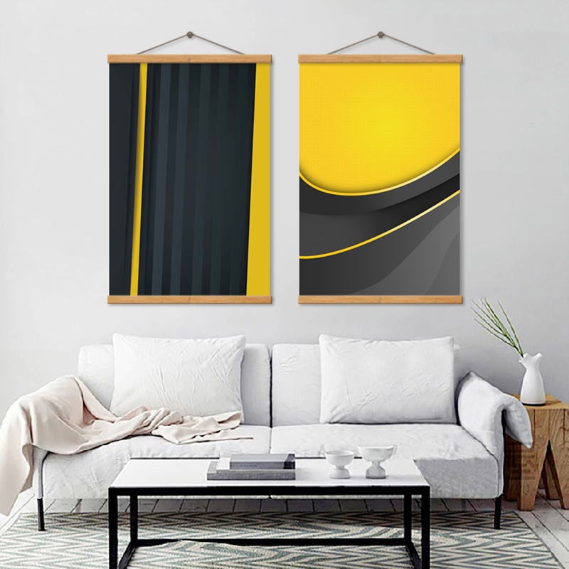 Abstract Minimalist Black and Yellow Geometric Canvas Painting Wall Art Picture Poster and Prints Nordic Decoration Home in Painting Calligraphy from Home Garden