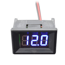 0.36 inch Digital Voltmeter Two Wires LED Display Blue DC 4.50V-30.0V Digital Panel Voltage Meter Voltage Detector Monitor rd 0 36 inch dc0 33v 3 wires digital voltmeter 5 bit display
