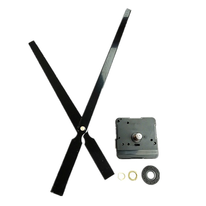 High Torque 10Sets 22MM Shaft Quartz Clock Movement Kit for Replacement with Large Metal Hands DIY