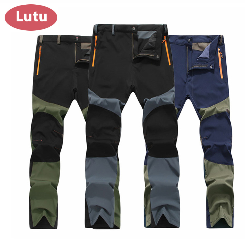 081302d086ff4 Thin Summer Elastic Quick Dry hiking Pants Men Outdoor Sports Breathable Sweat  Pants fishing Camping Trekking