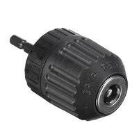 1PC 0 8 10mm Keyless Mini Drill Chuck Adaptor Converter 3 8 24UNF 1 4 Hex