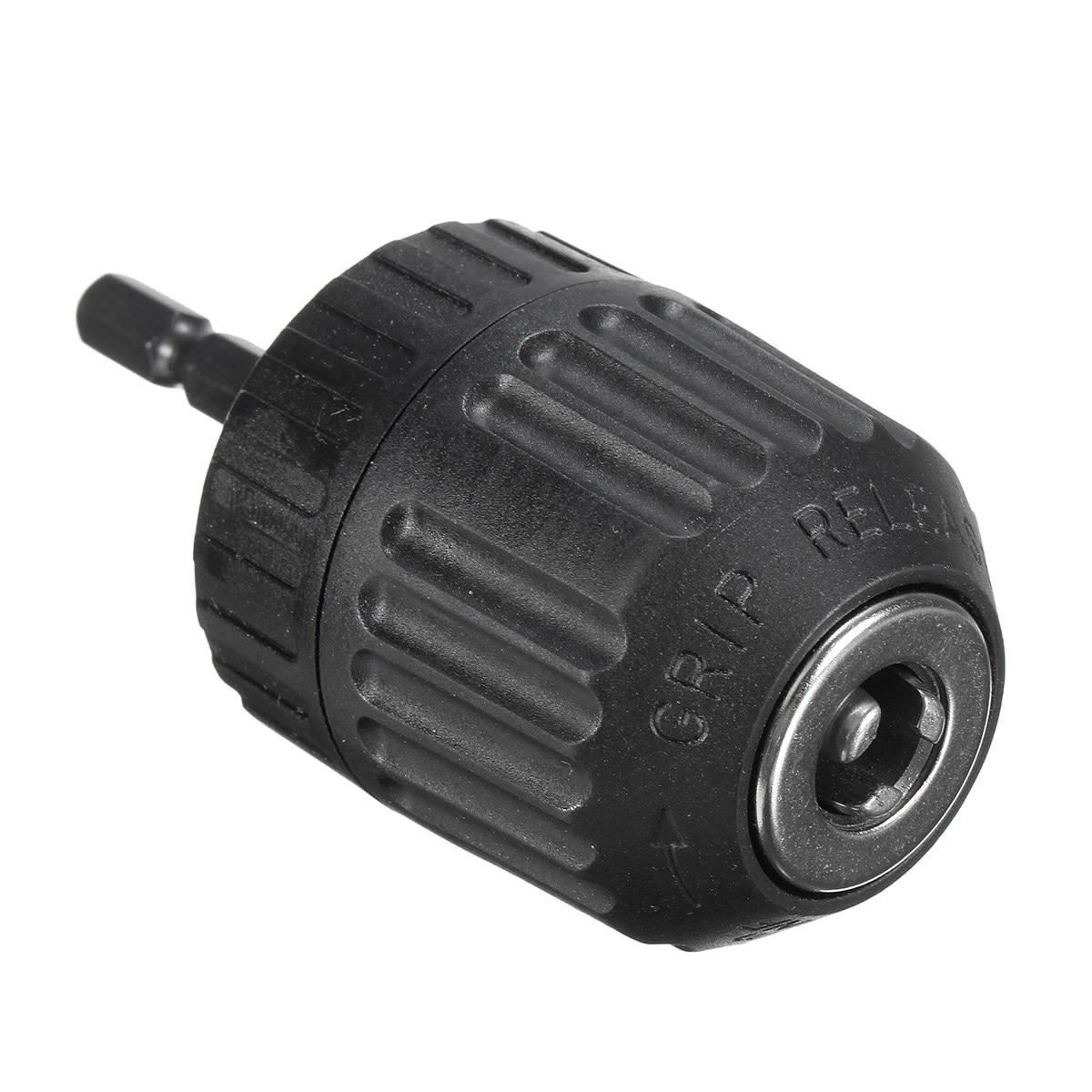1PC 0.8-10mm Keyless Mini Drill Chuck Adaptor Converter 3/8 24UNF + 1/4 Hex Shank SDS Power Tool Accessories 0 3 6 5mm keyless drill chuck screwdriver 6 35mm hex shank drill bits impact driver adaptor chuck collect grinder converter