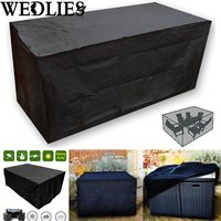 Black Waterproof Outdoor Patio Furniture Set Cover Garden Table Protective Cover Dustproof Table Cloth Home Textile