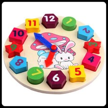 Детские блоки, цифровые часы, развивающие обучающие игрушки для детей раннего возраста, умственная форма, соответствующие деревянные часы GYH