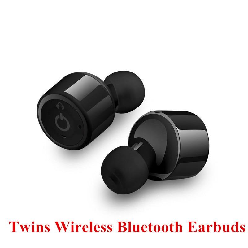 X1T Twins True Wireless Bluetooth Headset Double Earpiece Earphones Mini Invisible Stereo Earbuds For iPhone 7 Plus x1t mini invisible twins true wireless bluetooth earphones csr 4 2 handsfree earbuds for iphone 7 plus samsung s6 xiaomi