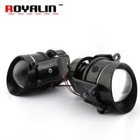 ROYALIN For Camry Fog Lights Lens Bi xenon H11 D2S Halogen Projector for Toyota Corolla Peugeot Citroen Prius Car Fog Lamp Retro