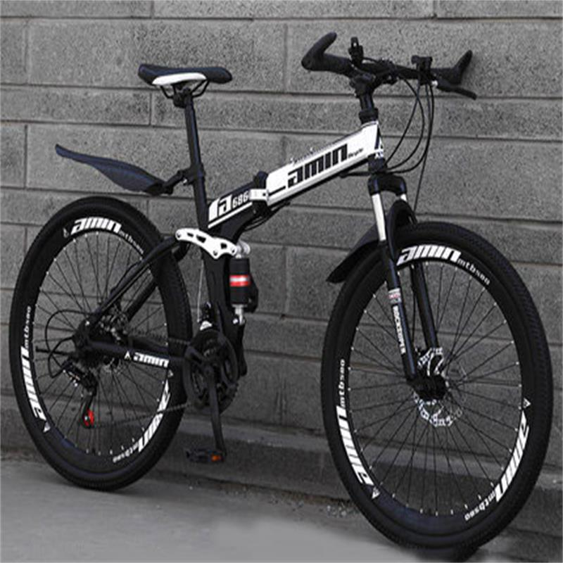 Mountain Bike Adult Folding Mountain Bike Sports Car Double Shock Men And Women Students Speed Racing