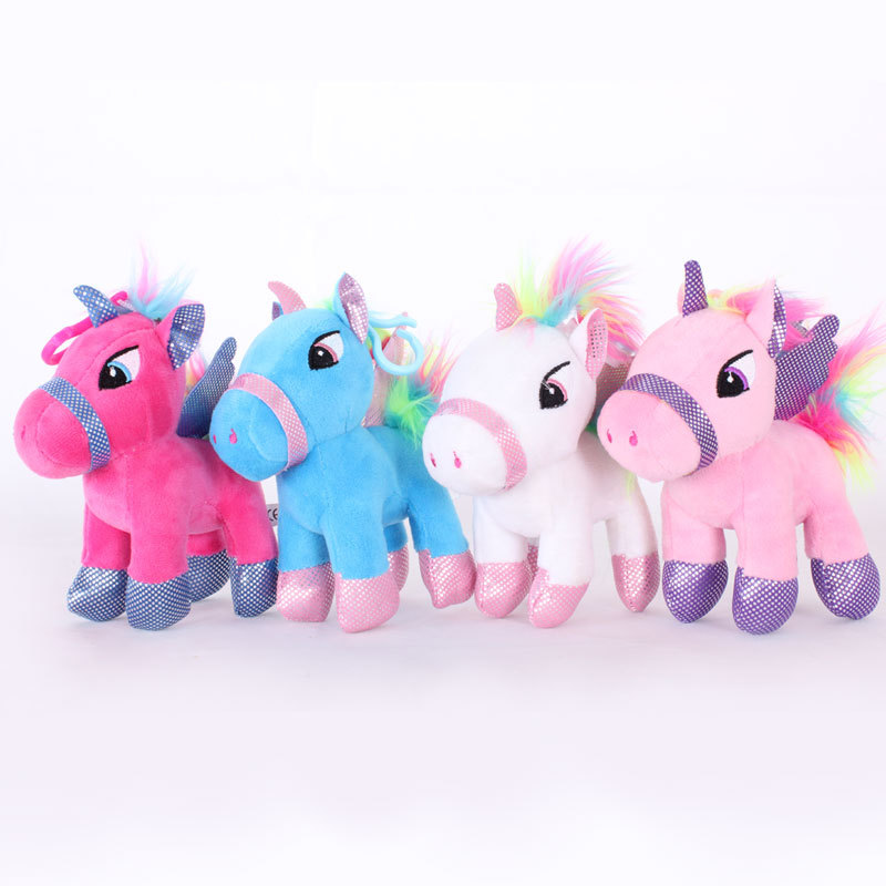 New 22/15cm Anime Unicorn Stuffed Animal Dolls Cartoon Unicorn Plush Toy Keychain For Kids Children Baby Birthday Christmas Gift mini kawaii plush stuffed animal cartoon kids toys for girls children baby birthday christmas gift angela rabbit metoo doll