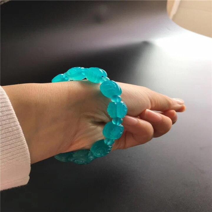 11mm prawdziwy lód naturalny amazonit mozambiku rzeźbione koraliki biżuteria akcesoria do bransoletki Party prezent na rocznicę Drop Shipping w Bransoletki i obręcze od Biżuteria i akcesoria na  Grupa 2