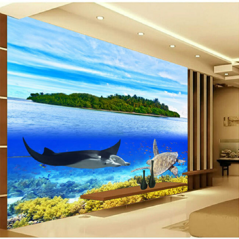 3D coral turtle island large mural 3D wallpaper backdrop living room bedroom 3D wallpaper TV backdrop painting 3D wallpaper large custom 3d wallpaper mural 3d wallpaper 3d stereoscopic rose pink flowers living room bedroom tv backdrop box