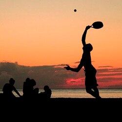 1pc fibra de carbono raquete de tênis de praia/esporte de praia raquete