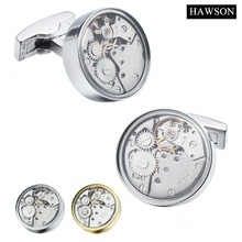 HAWSON Fashion Jewelry Watch Movement Cufflinks Imitation Rhodium/Gold Color Options Superior Gift for Men