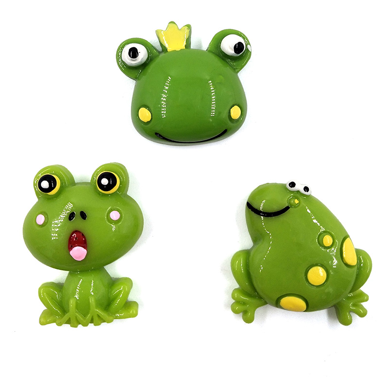 6pcs Frogs Model Flat Base Cartoon Animal action Figures Miniature Figurine home Garden Dollhouse Decoration DIY Accessory toy in Action Toy Figures from Toys Hobbies