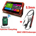 Universal Automotive Scanner Vpecker WIFI OBD2 Car Diagnostics Scanner +66AC USB Inspection Endoscope